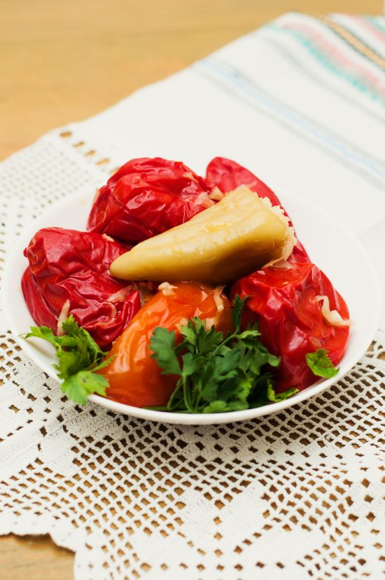 Stuffed pickled peppers